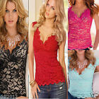 Sexy Womens Summer Lace Loose Casual Sleeveless Vest Tank Tops Blouse T-Shirt
