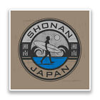 2 x Shonan Japan Surfing Vinyl Stickers #7324