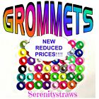 """SILICONE GROMMETS, 5/16"""" or 3/8"""", for Mason Jar Straw-Hole Lids, FOOD SAFE"""