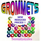 """SILICONE GROMMETS, 5/16"""", 3/8"""" or 1/2"""" for Mason Jar Straw-Hole Lids, FOOD SAFE"""