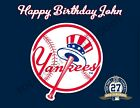 NY Yankees Personalized Edible Print Premium Cake Topper Frosting Sheets 5 Sizes