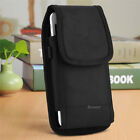 Vertical Heavy Duty Canvas Belt Clip Case Cover Pouch Holder for Samsung iPhone