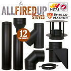 Shieldmaster Twin Wall Insulated Flue System Multifuel Flue Pipe Black