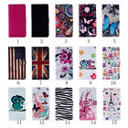 Card Slot Holder PU Leather Flip Wallet Case Cover Butterfly Owl For LG K7