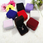 Top High Quality Necklace Box Velvet Cover Shaped Jewelry Ring Storage Box Gift