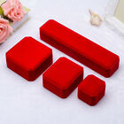 Top Velvet Cover Red Shaped Jewelry Ring Bangle Show Display Storage Box Gift