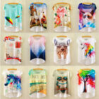 Summer Sexy Women Lady Loose Casual Short Sleeve Print Blouse T-Shirt Tees Tops
