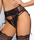 """PROVOCATIVE EROTIC """"TAME ME"""" AXAMI V-5352 AND V-5358 OPEN CROTCH G-STRING & BELT"""
