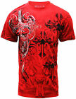 Konflic Crew Neck Mens Graphic Red Muscle Tee 725-RD