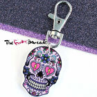 FUNKY LARGE MEXICAN SUGAR SKULL CLIP-ON CHARM EVIL ZOMBIE DAY DEAD QUIRKY GIFT