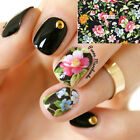 Nail Art Water Decals Transfer Stickers Splendid Flower Manicure Decoration Tips