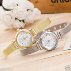 HUANS Fashion Women's Ladies Stainless Steel Simple Mesh Band Wrist Watches Gift