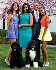 BARACK OBAMA FAMILY WITH PET DOGS 2015 EASTER PORTRAIT - 8X10 PHOTO (EP-058)