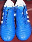 Soccer cleats shoes Adidas Adipure IV $150+ blue white soft field screw in 12