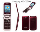"Samsung C3590 Original Unlocked 2.4"" 2MP Big Buttons Stylish Flip Mobile Phone"