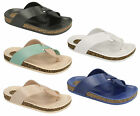 SALE F0780 LADIES CROSS OVER STRAP FOOTBED TOEPOST FLAT MULES SANDALS