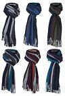 Mens Giovanni Cassini Luxury warm knitted winter Stripes Scarf, scarves, 6 cols
