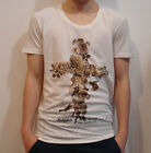 RELIGION  Flower Cross T-Shirt in Broken White