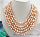 """X0321 Long 100"""" 10mm round freshwater cultured pearl neckalce"""