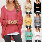 Fashion Womens Long Sleeve Loose Casual Jumper Pullover Coat Sweater Knitwear