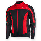 Mens Cycling Winter Jacket Long Sleeve Full Zipper,Black/Reflective, Race Fit