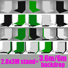 2.8x3M Support Stand Photo Studio Photography Lighting Backdrop Background Kit
