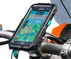 Motorcycle Handlebar Clamp Mount + Waterproof Case for Samsung Galaxy S6 S6 Edge