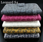 Leopard Print Synthetic Leather Flip Cover Case for Samsung Galaxy S4 SIV i9500