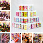 Nail Art Roll Foils Strawberry Feather Pattern Glitter Transfer Stickers Decals
