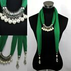 New ladies Artificial Pearls Jewelry Pendant Necklace Scarf