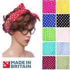 RETRO 60s / 50s ROCKABILLY Glasses OR Head Scarf accessories Fancy Dress GREASE