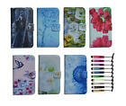 For HTC luxury Wallet card holder Magnetic flip Leather case cover + stylus