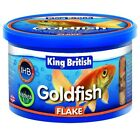 King British Goldfish Fish Flakes Complete Coldwater Food 12g, 28g, 55g & 200g