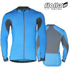 FIOLLA STF-Flow (Prototype) Men's Long Sleeve Cycling Jersey - Blue