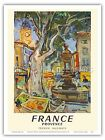 Provence France Aix-en-Provence Old-time Railway Travel Art Poster Print