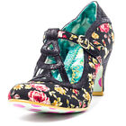Irregular Choice Nicely Done Womens Shoes Black Floral New Shoes