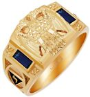 10k or 14k White or Yellow Gold Customizable Scottish Rite Mason Solid Back Ring