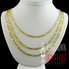 Solid Heavy 14k 100% Real 2 Tone Gold Figaro Link Chain Necklace Men's 4mm New