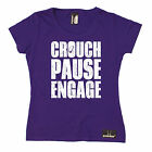 Crouch Pause Engage WOMENS T-SHIRT Rugby Rugga Team Fashion Funny birthday gift