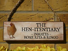 CHICKEN NAME PLAQUES HENITENTIARY CHICKEN COOP SIGN CHICKEN RUN SIGN HENS EGGS