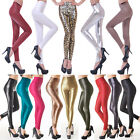 Women's Sexy  High Waist  Leather Slim Legging Long Stretch Pencil Pant Skinny