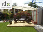 Decking kits items in nlc timber supplies store on ebay for Timber decking seconds