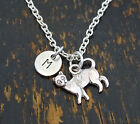 PERSONALIZED Cat Necklace - choose an Initial, Cat Lover, Cat Memorial Necklace