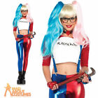 Adult Misfit Hipster Costume Ladies Sexy Harlequin Harley Quinn Fancy Dress