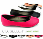 Girls Kids Toddler Ballet Flats Shoes Dress Youth Black Pink Silver White Coral