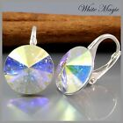 Ohrringe mit ORIGINAL SWAROVSKI ELEMENTS   12mm Rivoli and 925 Silber gestempelt