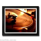 DJ DECKS TURNTABLE MUSIC POSTER FRAMED WALL ART PRINT PICTURE S M LARGE