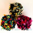 Bird Of Paradise French Feather Tuft Euro Yarns Rainbow 01 Pink Black 05 Teal 02