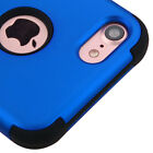 For iPhone 7 / 8 - Hard & Soft Rubber Hybrid Rugged Impact Shockproof Case Cover