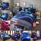 4Pcs 3D Starry Sky Brushed Printed Duvet / Quilt Cover Bedding Pillow Case Set